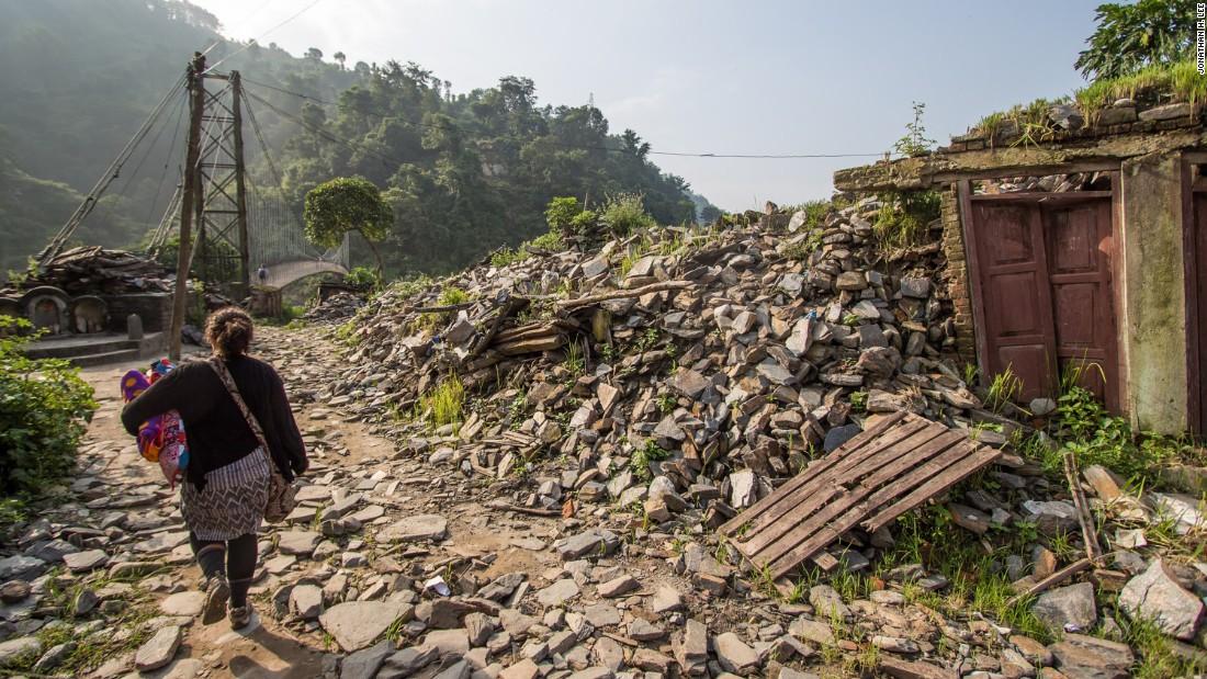 Rebuilding a Nepali village, one block at a time