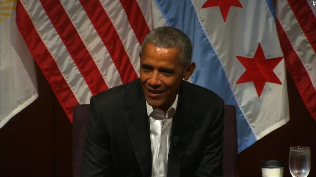 He cracks joke at 1st public appearance since leaving office