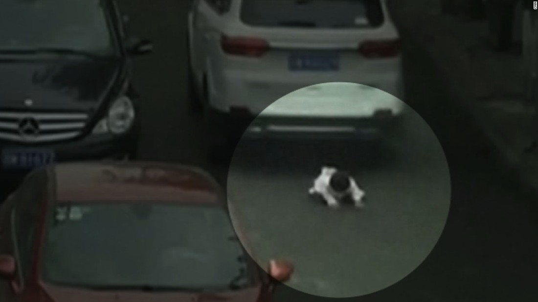 Toddler survives being run over twice