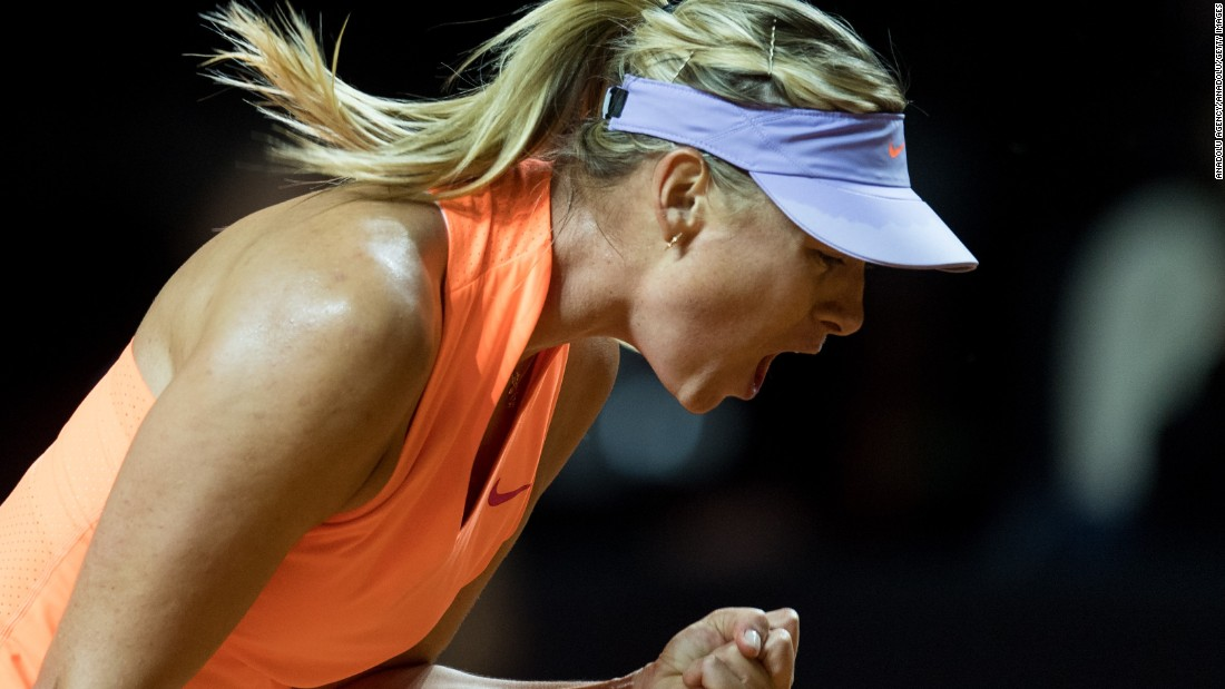 Sharapova wins on return from doping ban