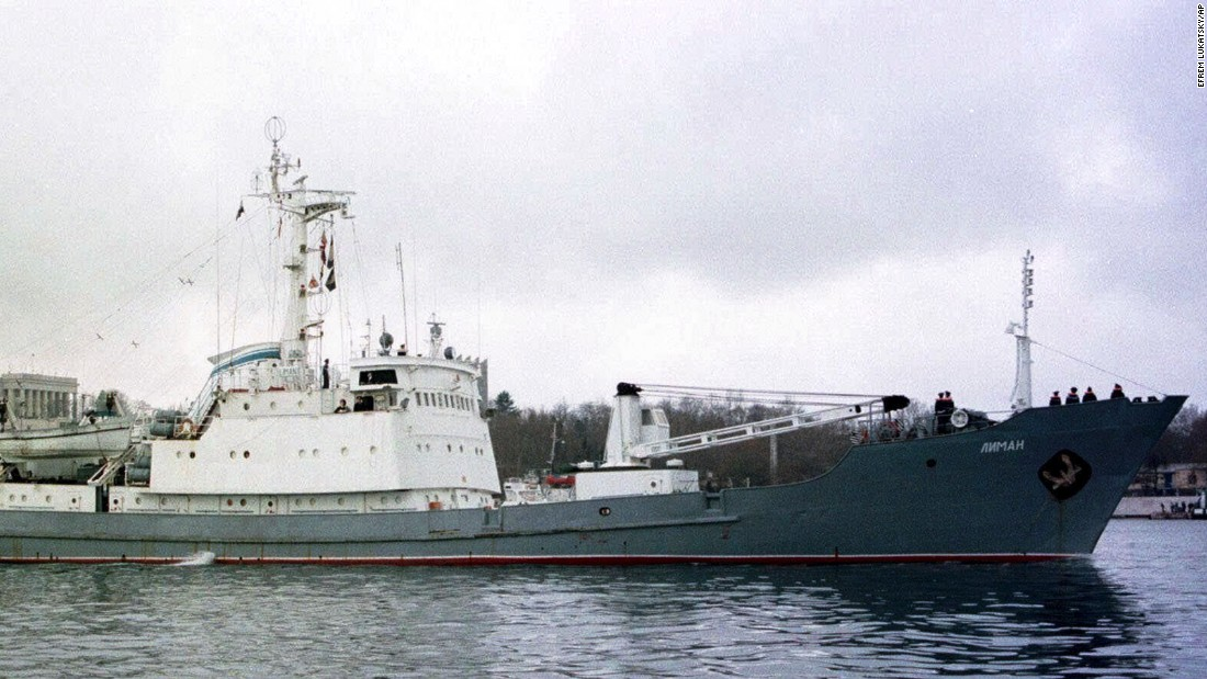 Russian ship sinks after collision