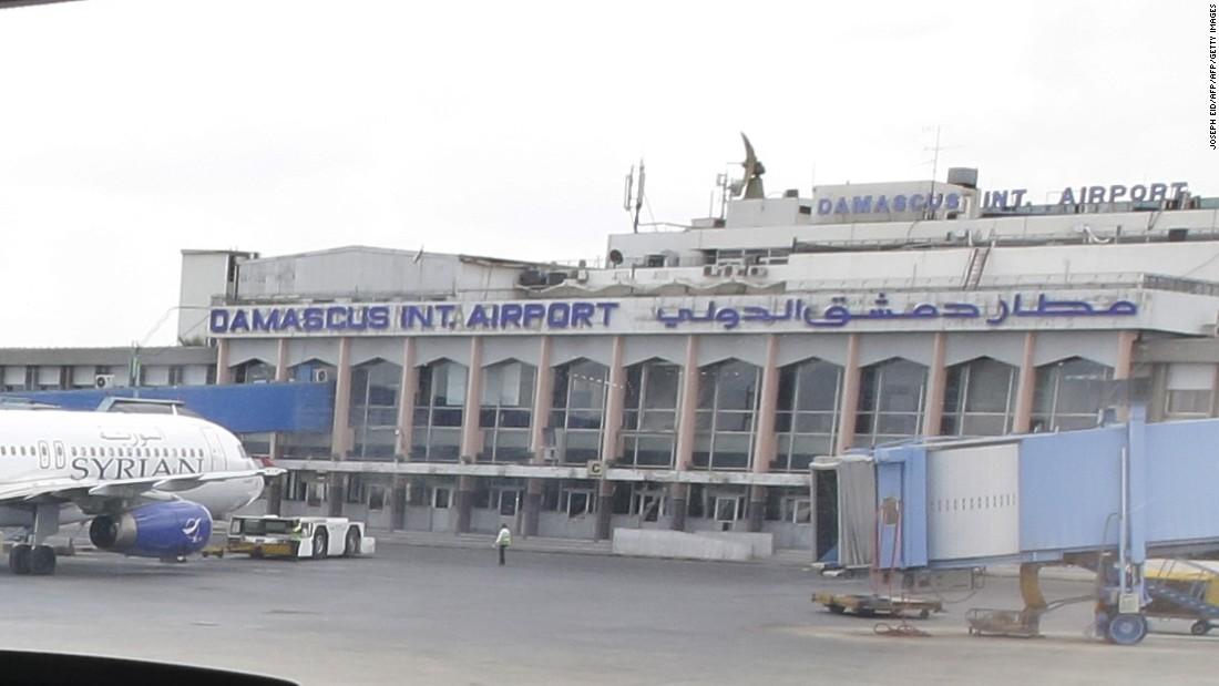 Syria blames Israel for Damascus airport blast