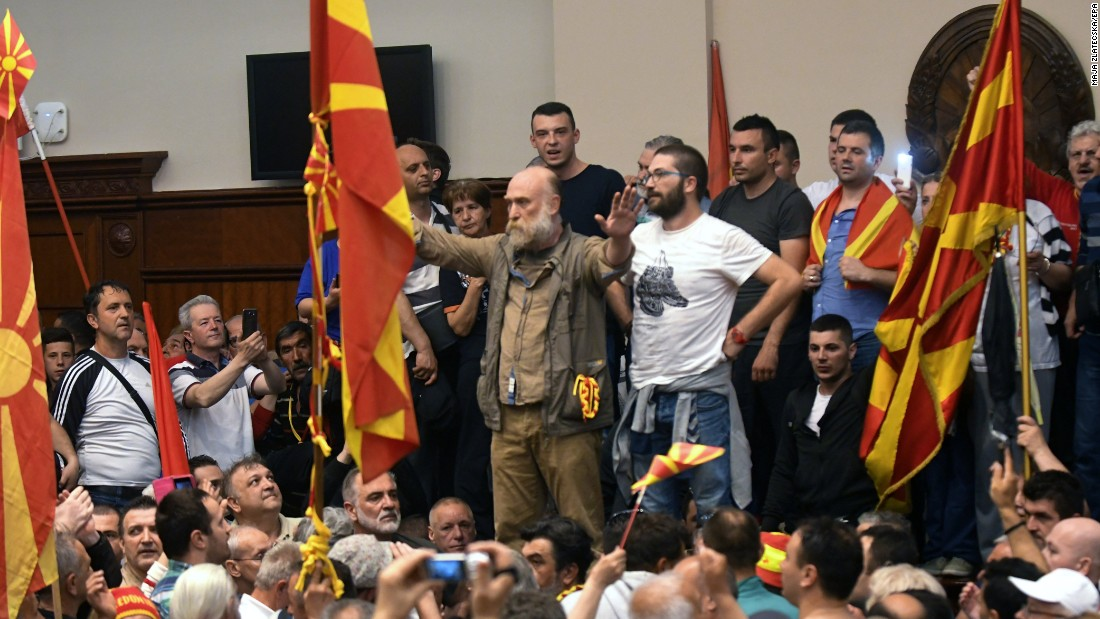 Angry nationalists storm parliament