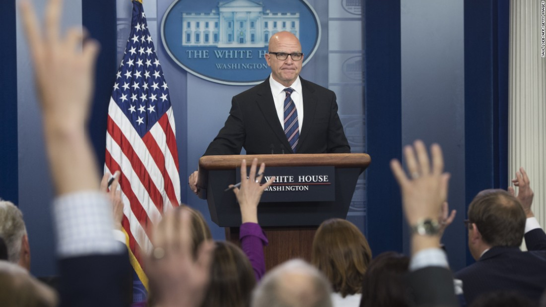 McMaster's task: 'You can't say what not to say'