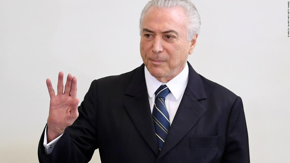 Brazil's president accused of bribery
