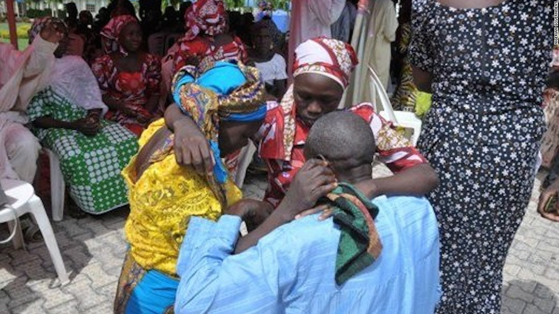 Chibok girls reunited with families