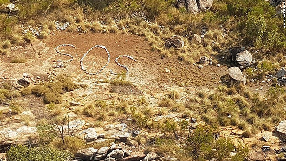 Mystery SOS sign confuses police in Western Australia