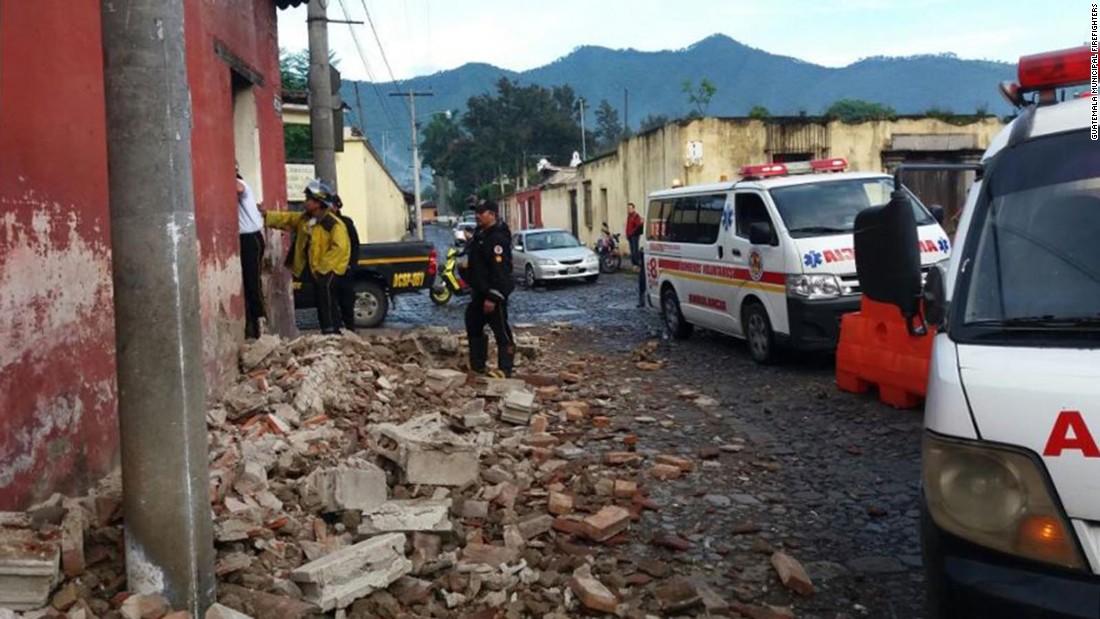 Magnitude 6.8 earthquake causes damage in Guatemala
