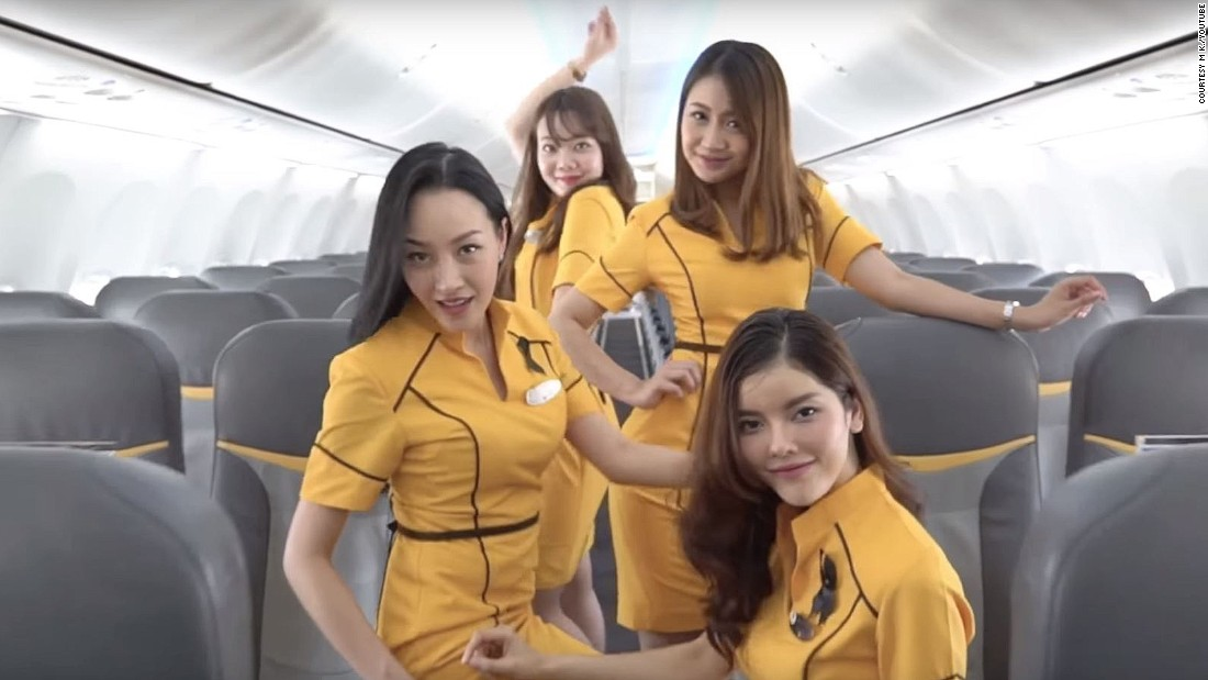 Thai flight attendants welcome Britney Spears with 'Toxic' video