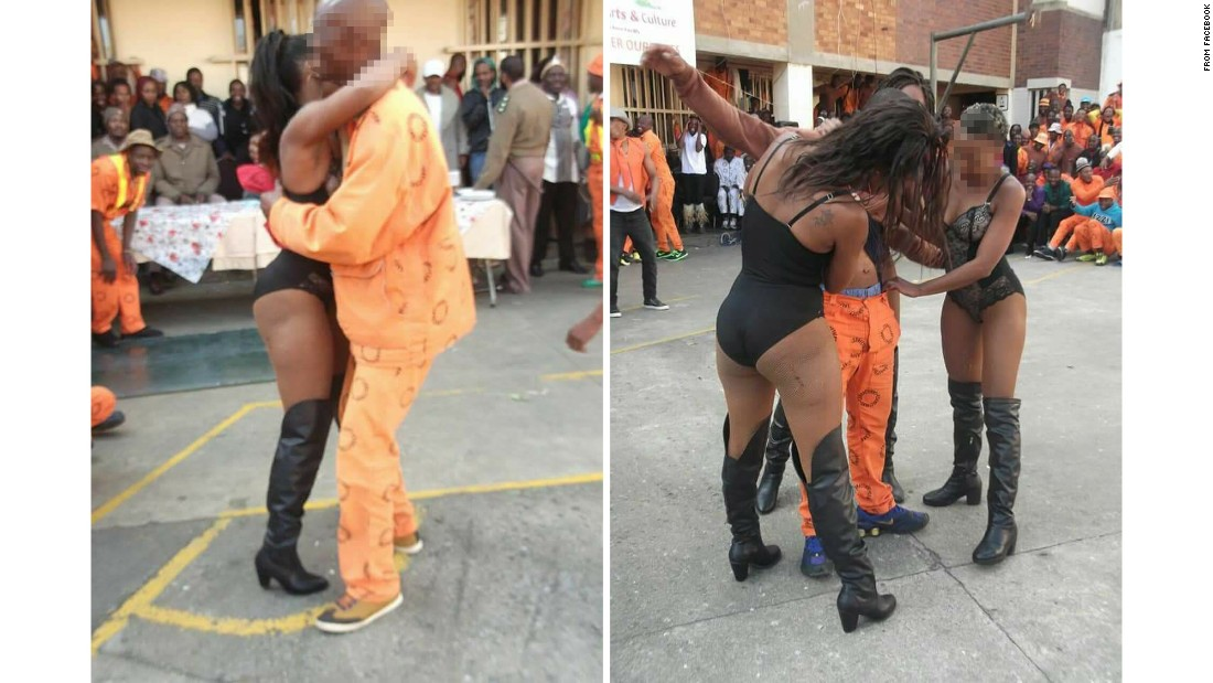 Photos show 'strippers' at South African prison