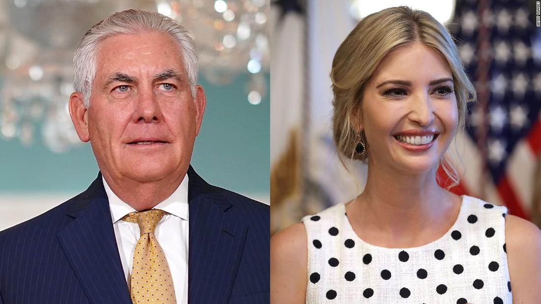 Tillerson's senior team planning to skip Ivanka Trump's India trip