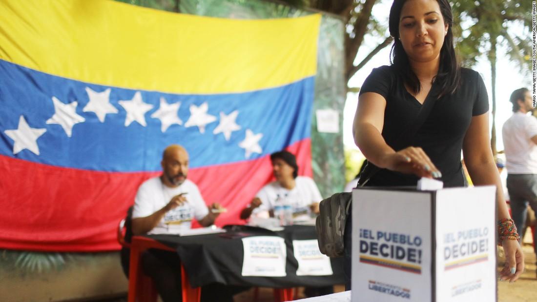Venezuela bans protests ahead of vote