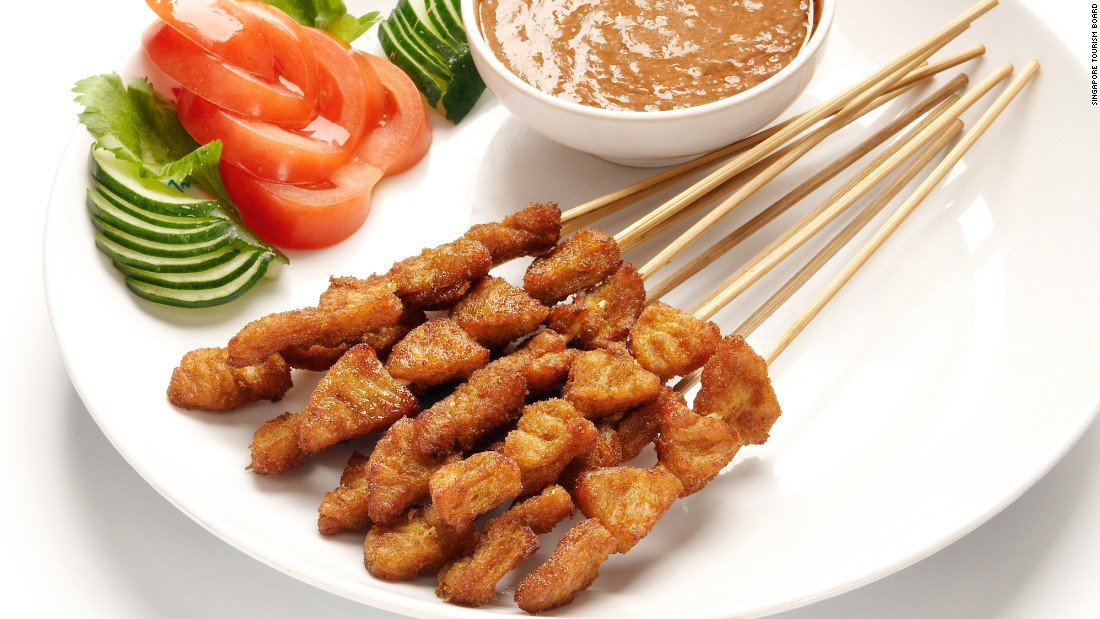 In Singapore, an entire street dedicated to satay