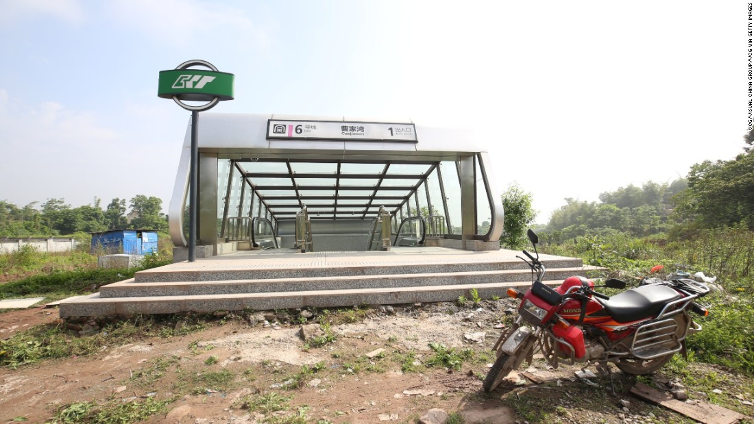 The metro station in the middle of nowhere