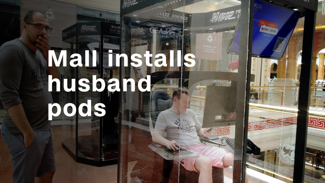Mall debuts 'husband pods' for spouses
