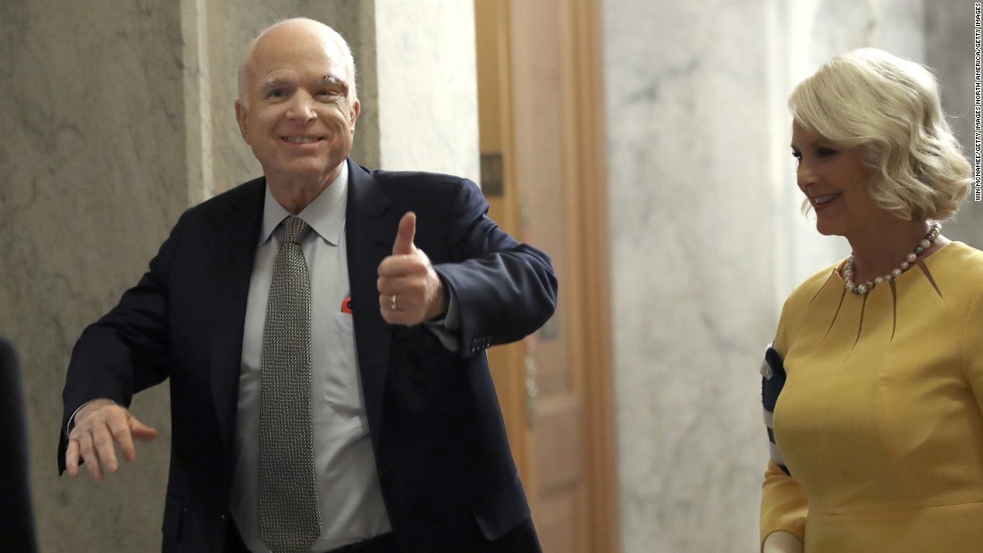Did McCain take a swipe at the President's draft deferments?