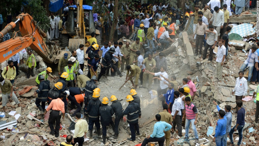 At least 17 dead after building collapses in Mumbai