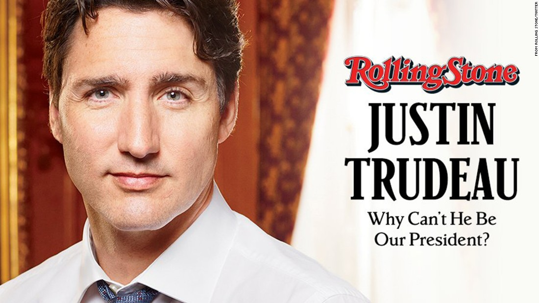 Rolling Stone takes on Trump with Trudeau cover