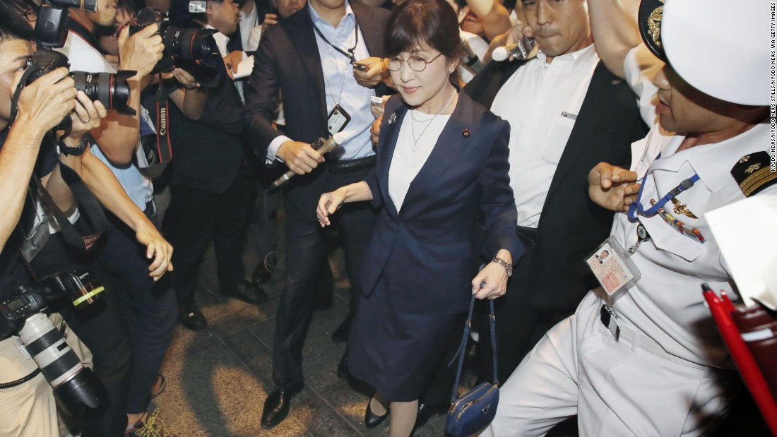 Japan's defense minister and one-time rising political star resigns
