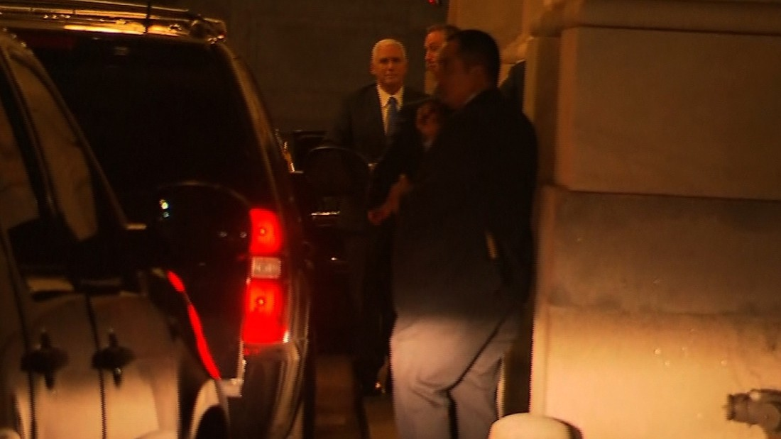Pence arrives at Capitol to chants of 'shame'