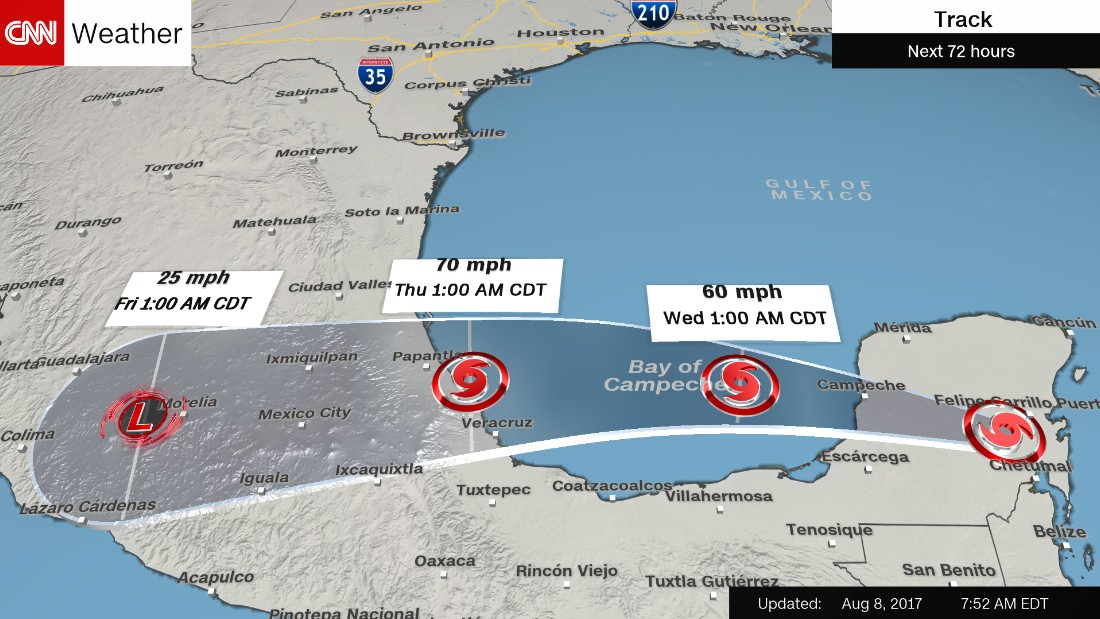 Tropical storm forms off Yucatan peninsula - General news ...