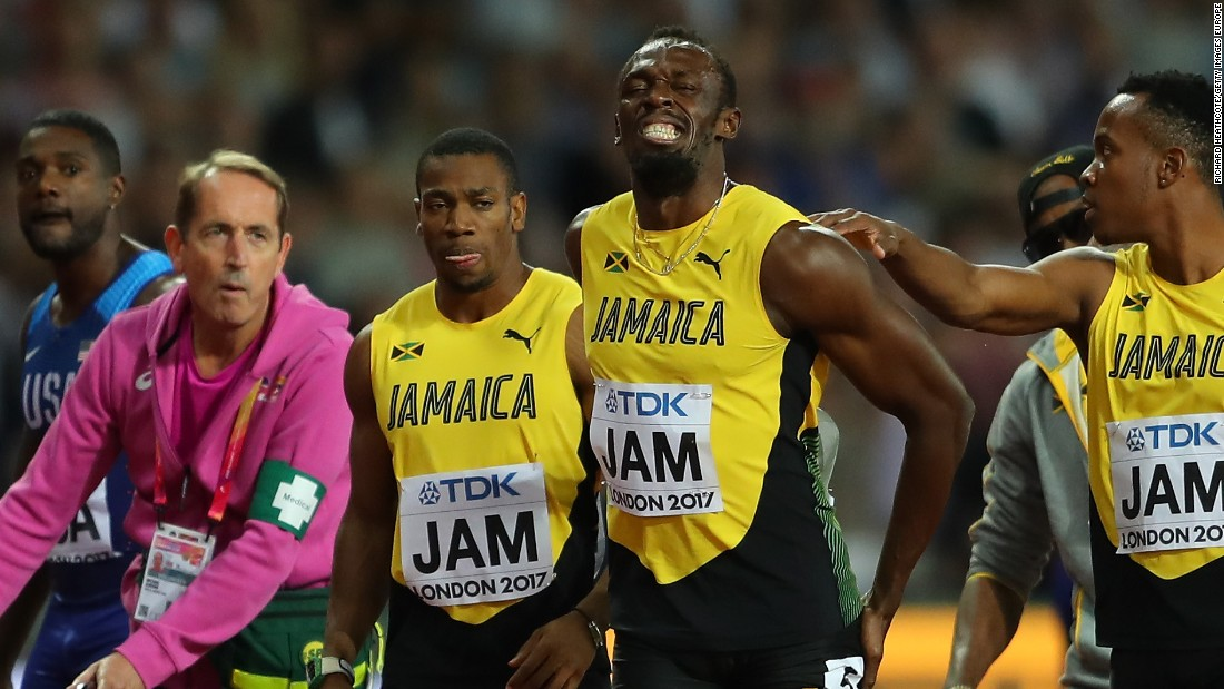 Usain Bolt hurt in final race