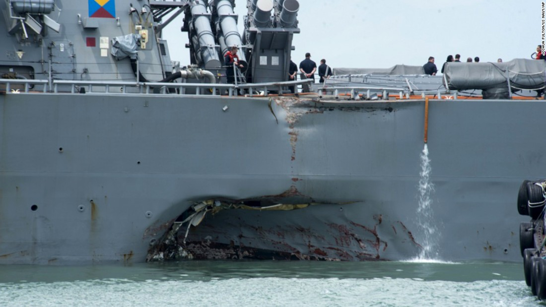 Official: US Navy ship lost steering control before collision