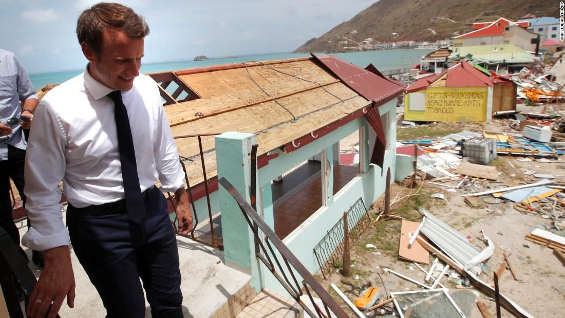 European leaders arrive in Irma-struck Caribbean