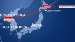 North Korean missile flies over Japan