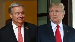 Trump and Guterres -- a diplomatic odd couple