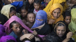 Three killed in stampede for aid near Rohingya refugee camp