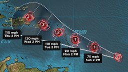 Tropical Storm Maria eyes Irma's path