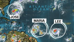 3 storms rage in Atlantic -- one may follow Irma's path