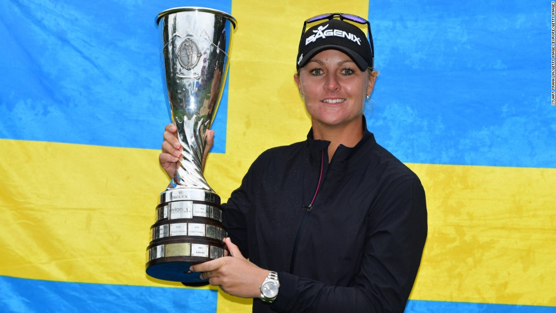 Evian Championship: Nordqvist storms to playoff win