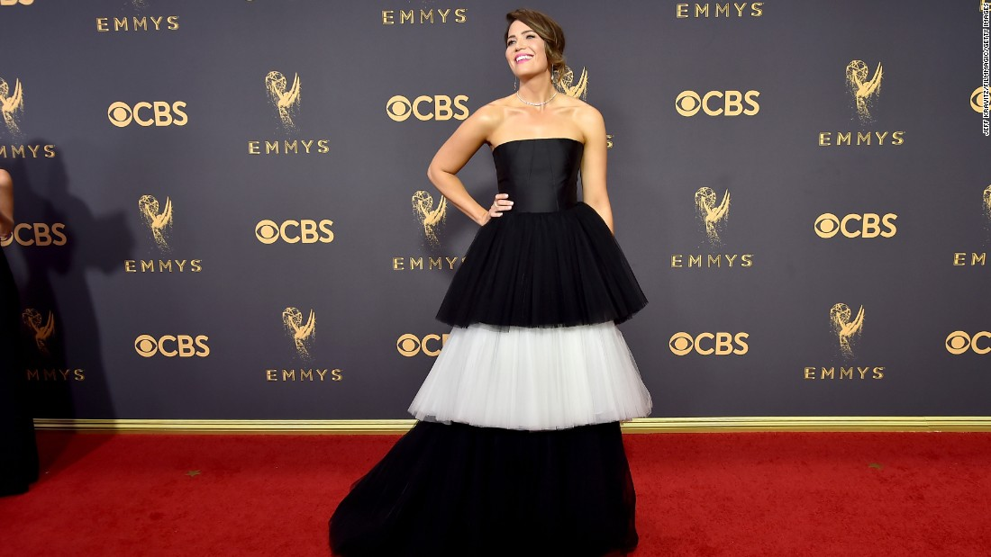What celebs wore on the Emmys red carpet