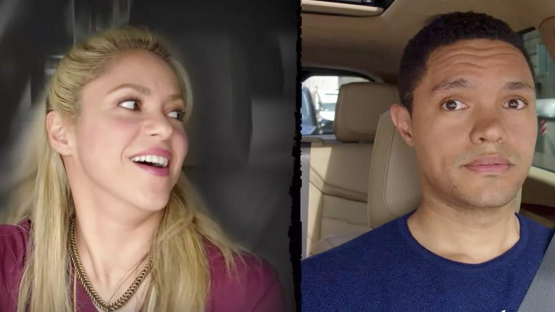 Shakira shows her inner rocker to Trevor Noah on 'Carpool Karaoke'