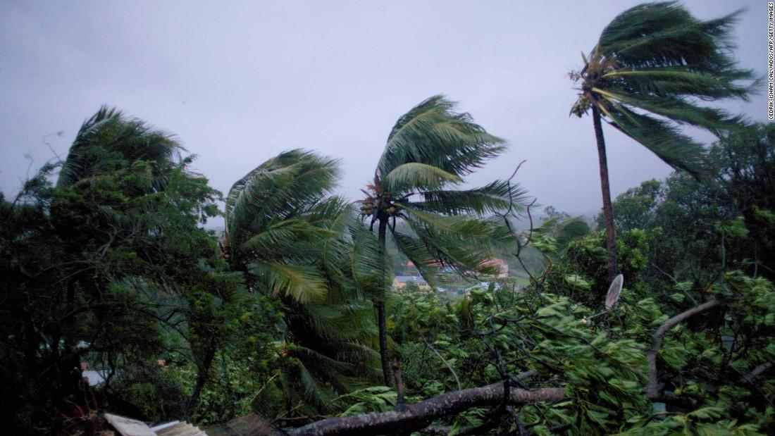 Maria roars through Caribbean