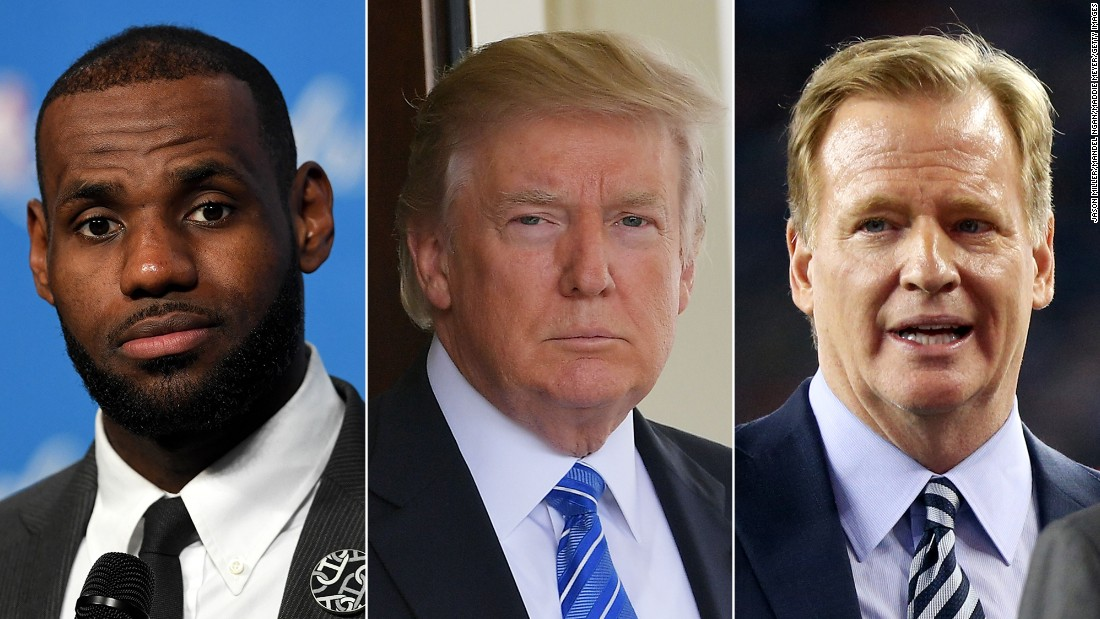 Trump is under fire after he blasted athletes for kneeling during the anthem and refusing to come to the White House