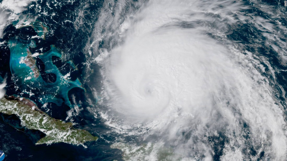 Hurricane Maria is still churning towards the East Coast