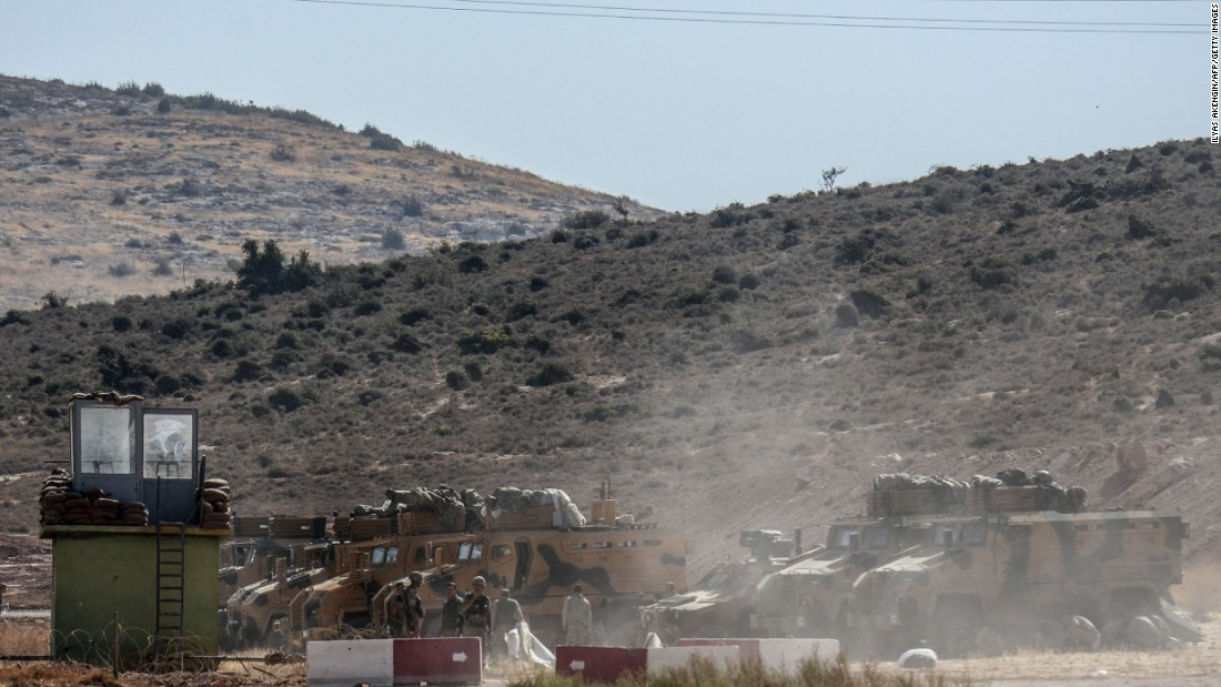 Turkish forces scout Syria's Idlib province