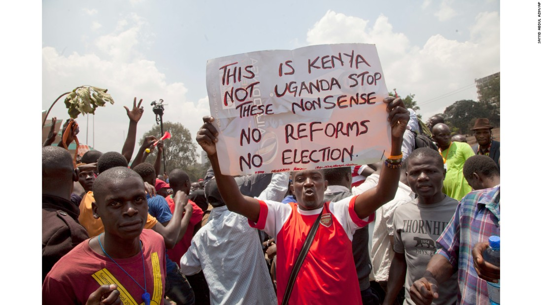 Kenyan police clash with protesters