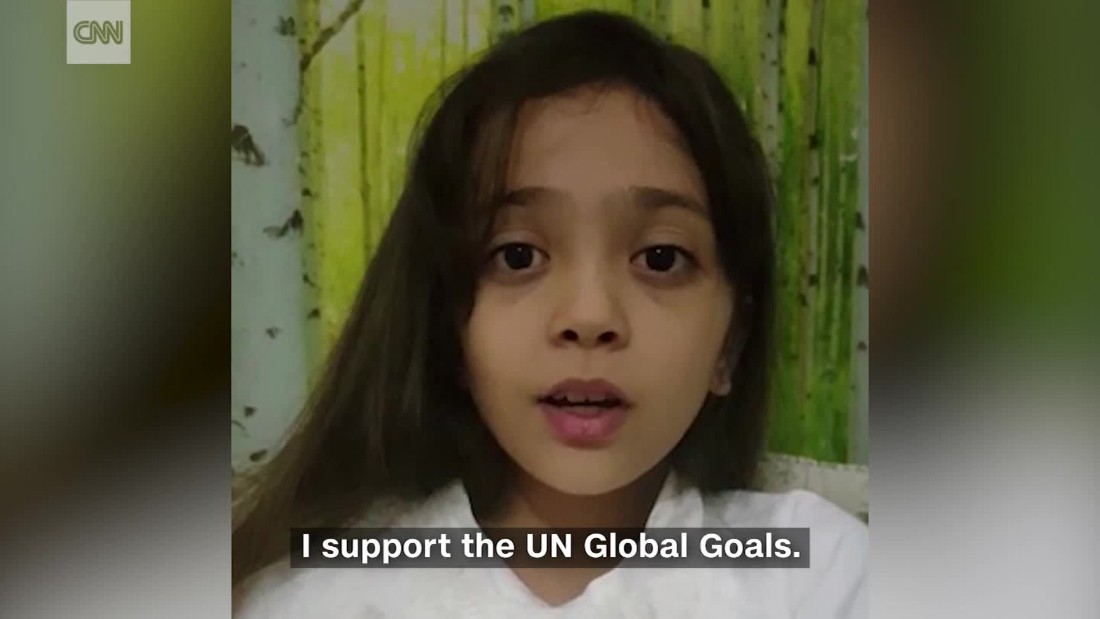 Bana Alabed's message on #DayOfTheGirl