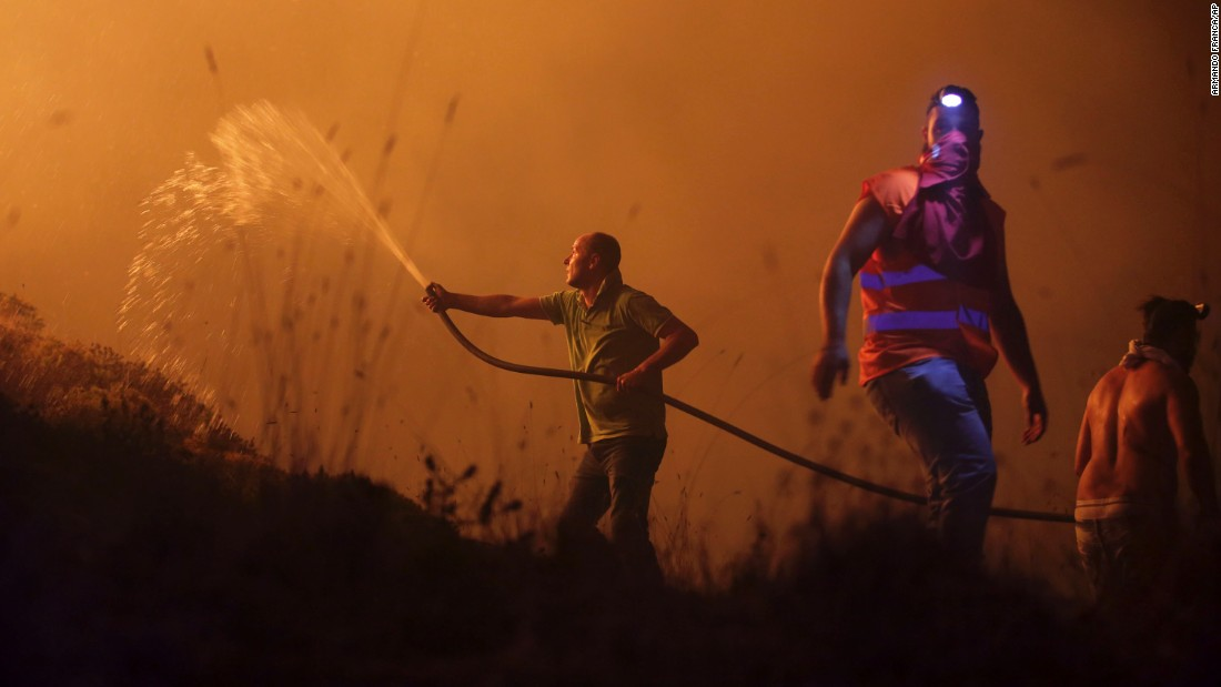 Portugal and Spain wildfires kill 44
