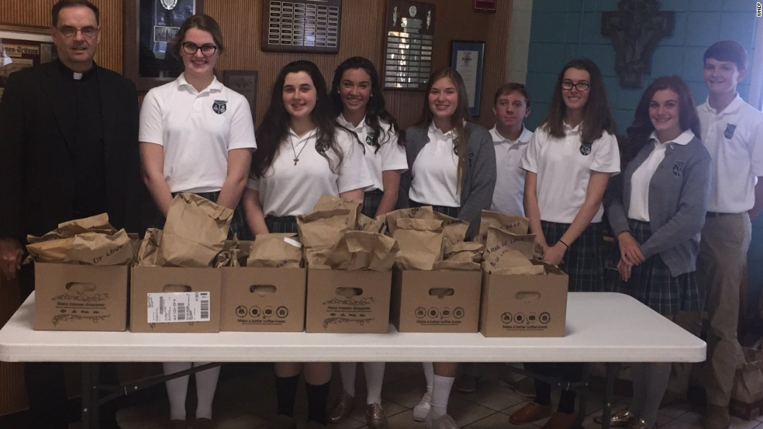 School gives out meals on World Food Day