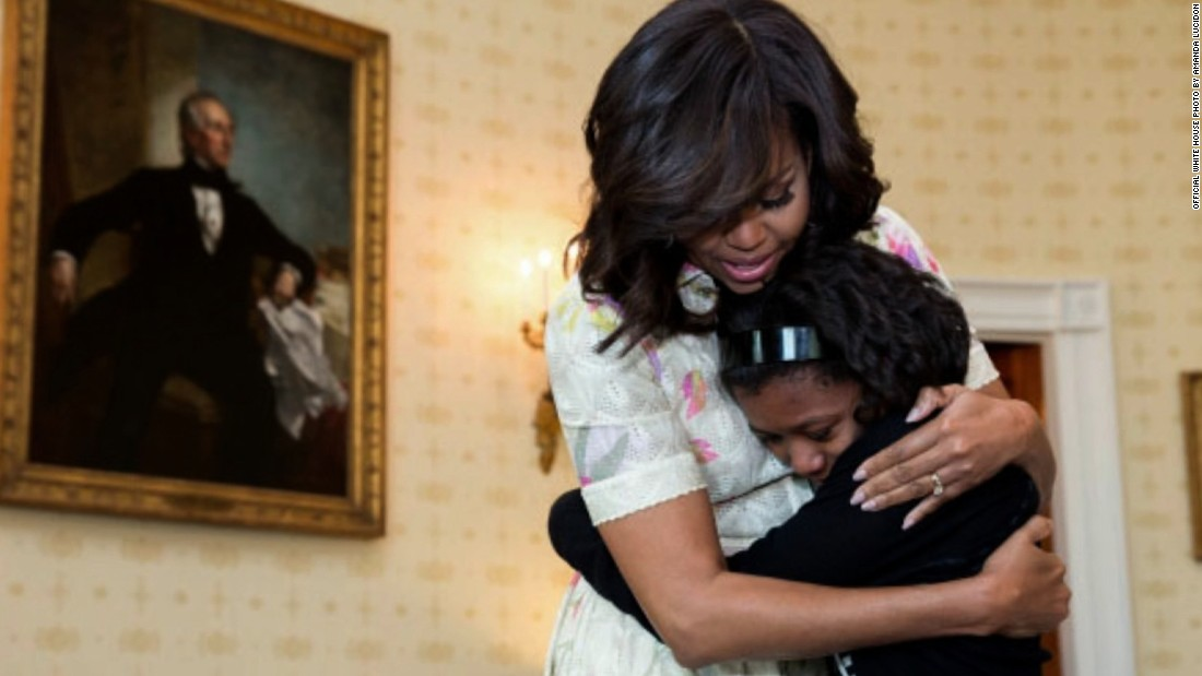Newly revealed photos of Michelle Obama