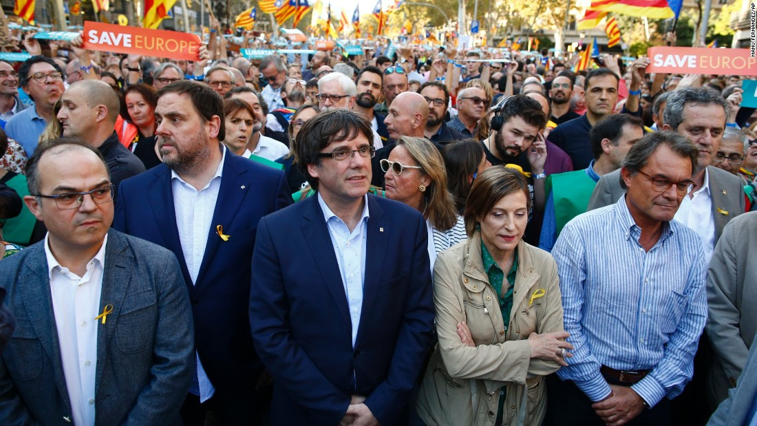 Catalonia's leaders slam Spanish government plans for direct rule