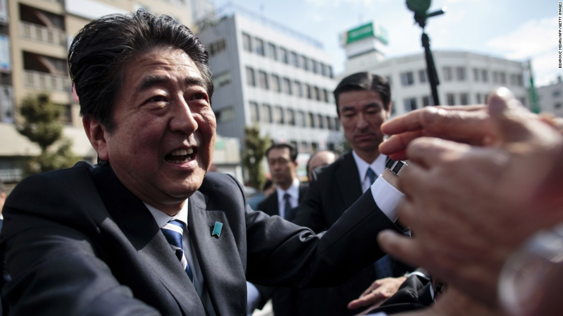 Shinzo Abe on track for landslide victory, exit polls show