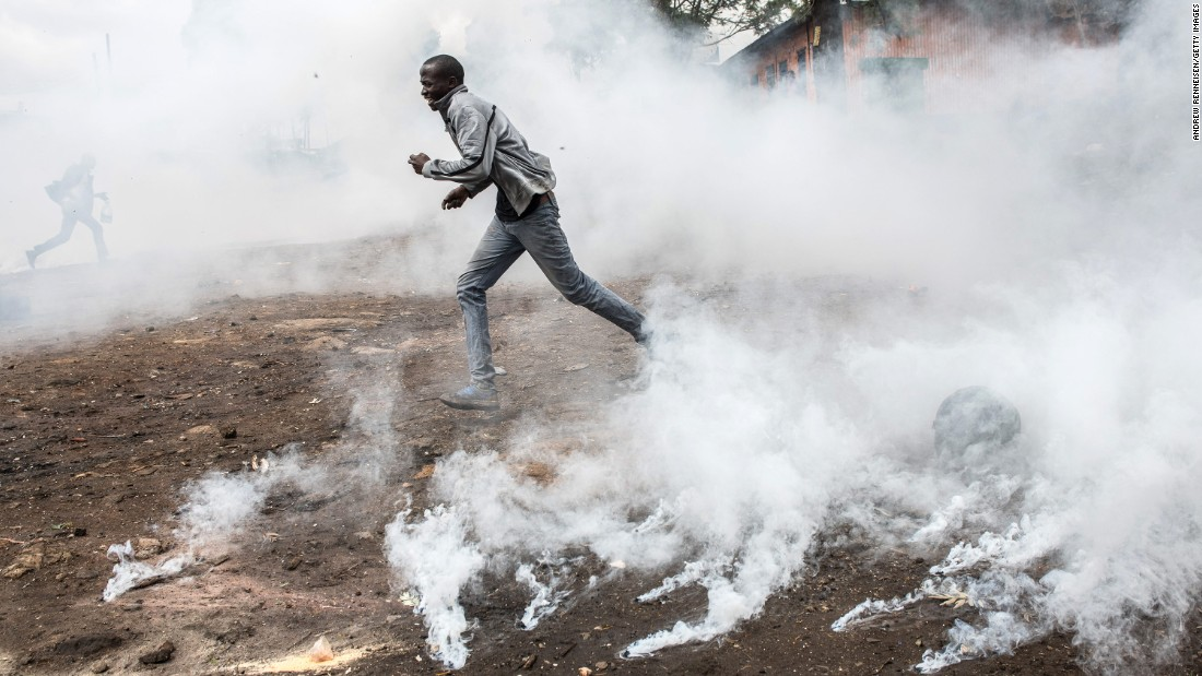 Protesters, police clash in election protests