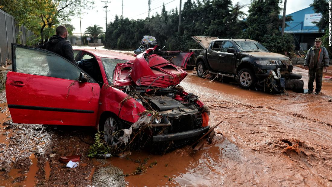 Death toll climbs from flash floods in Athens