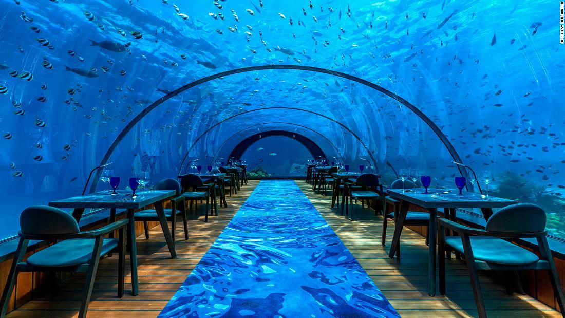 World's largest all-glass underwater restaurant